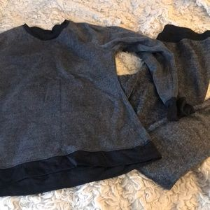 Cuddl duds L fleece reversible grey black Sub zero